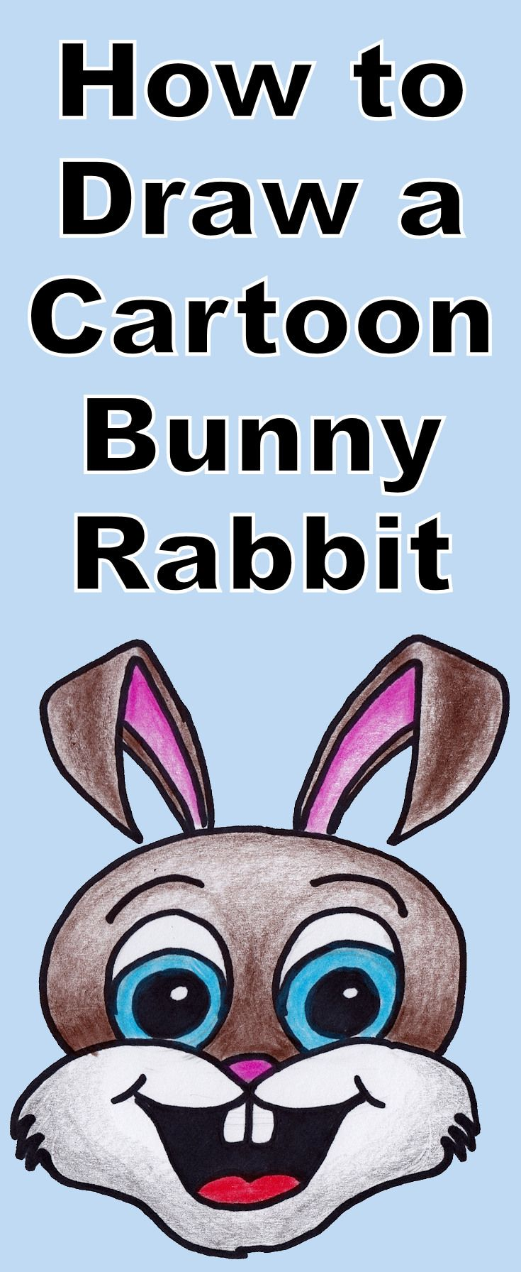 Learn how to draw a cartoon bunny rabbit is this free drawing tutorial for kids. It also includes a coloring page download for the younger ones