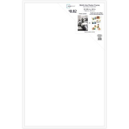 Mainstays 22 inch x 34 inch Poster Frame, White