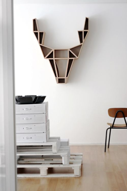 Cool bookshelf designed by BEdesign, Finland #InteriorDecorInspiration #Shelves