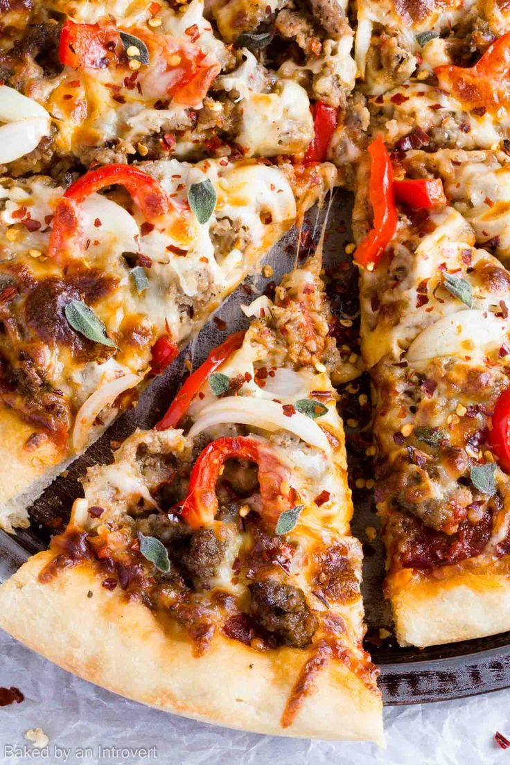 "Spicy Sausage Pizza Recipe My thoughts: okay but not like ""oh I have to make that again""!"