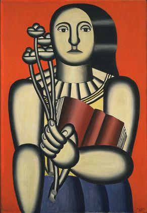 "Woman with a Book  Fernand Léger (French, 1881-1955)    1923. Oil on canvas, 45 3/4 x 32 1/8"" (116 x 81.4 cm).    MOMA"