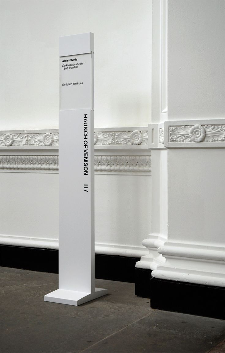 exhibition signage || Haunch of Venison || Designer = Spin || http://www.septemberindustry.co.uk/spin-6/