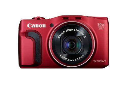 Canon Powershot SX700HS Appareil photo numérique compact 16,1 Mpix Ecran 3'' Zoom optique 30x Rouge   Your #1 Source for Camera, Photo & Video