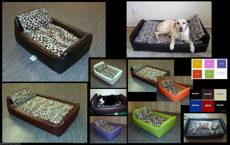 XL ZIPPY WATERPROOF FAUX LEATHER & CAT DIVAN PET DOG BED SOFABED WIPE CLEAN WASH