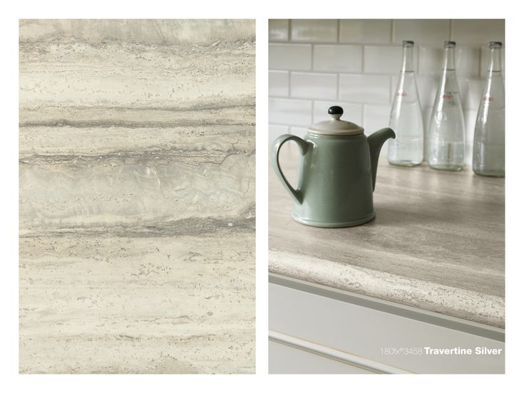 180fx 3458 Travertine Silver Counter Tops And