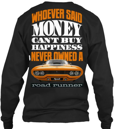 Money Can Buy Happiness Black Long Sleeve T-Shirt Back