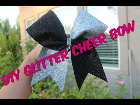 DIY GLITTER CHEER BOW - YouTube