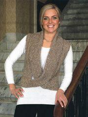 Cardigan & Jacket Knit Patterns - Woman's Cowled Vest