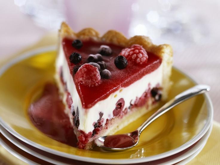 Frischkäse-Beeren-Kuchen