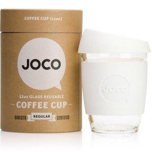 JOCO Regular Glass Coffee Cup 350ml 12oz - White