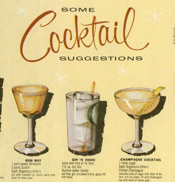vintage cocktail party month via The Girl with the Star ...