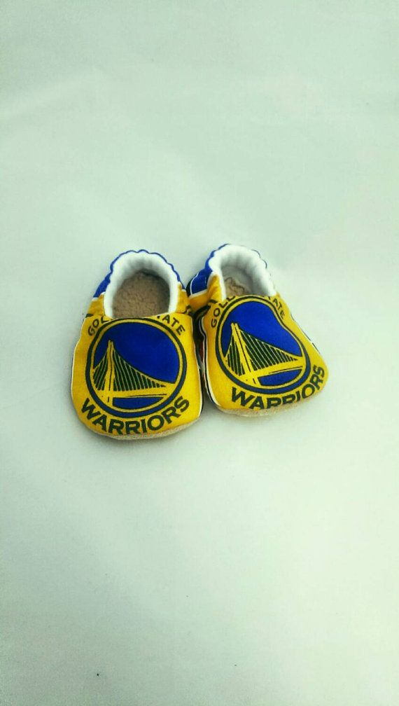 Golden State Warriors Baby Shoes Basketball by TheKnittingCheetara