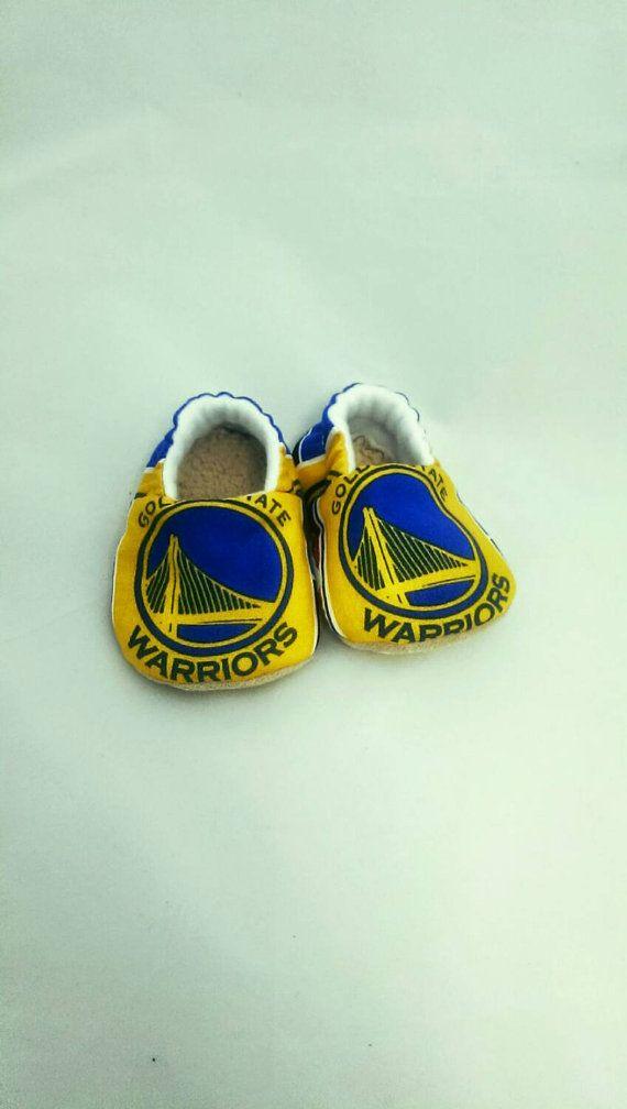 Golden State Warriors Baby Shoes Basketball by TheKnittingCheetara