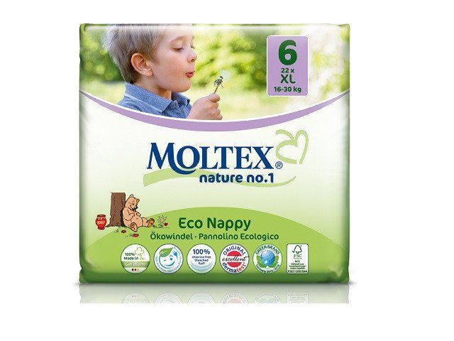 Moltex Nature Disposable Nappies - XL - Size 6 - Pack of 22 - 100% biodegradable inner fluff  #s #eco #e #clothing #men £7.85 #organic #natural #ecofriendly #sustainaable #sustainthefuture