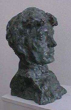 Josef Mařatka: Podobizna Míly Slavíčkové, 1909, plastika, bronz,