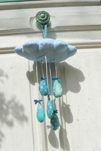 DIY : Tuto mobile petit nuage en tissu