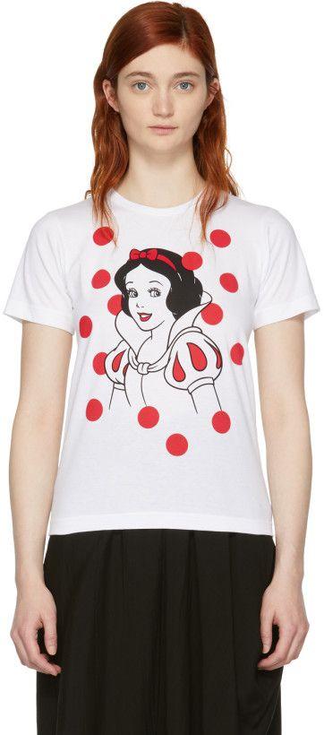 White Camiseta Garçons Edition Disney Girl de de Comme Des snow ZqT10Z