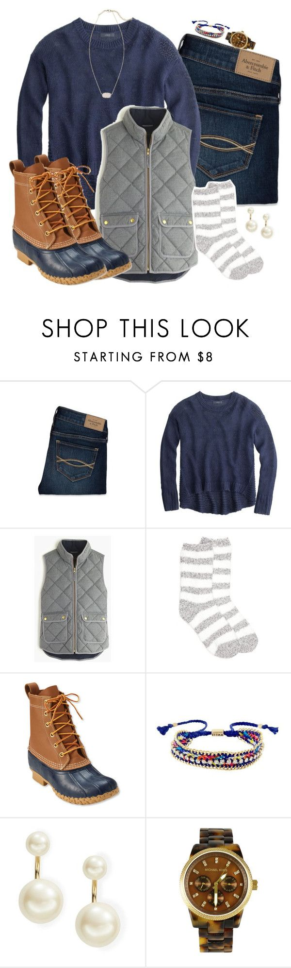 """""""I really want it to snow!!"""" by keileeen ❤ liked on Polyvore featuring Abercrombie & Fitch, J.Crew, New Directions, L.L.Bean, Ettika, Kate Spade, Michael Kors and Kendra Scott"""