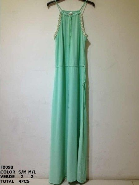 Vestido largo color verde | Silvia SolerSilvia Soler