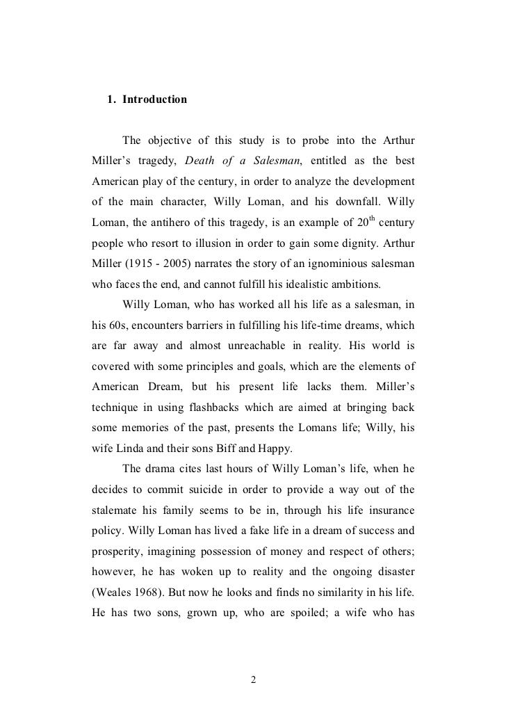 Essays On Willy Loman - Opinion of professionals