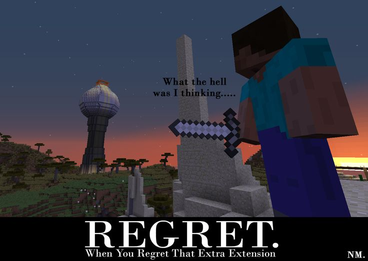 Minecraft Building Regret