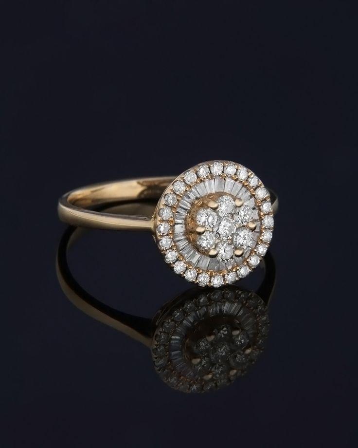 Δαχτυλίδι αρραβώνων ροζ χρυσό με Διαμάντια