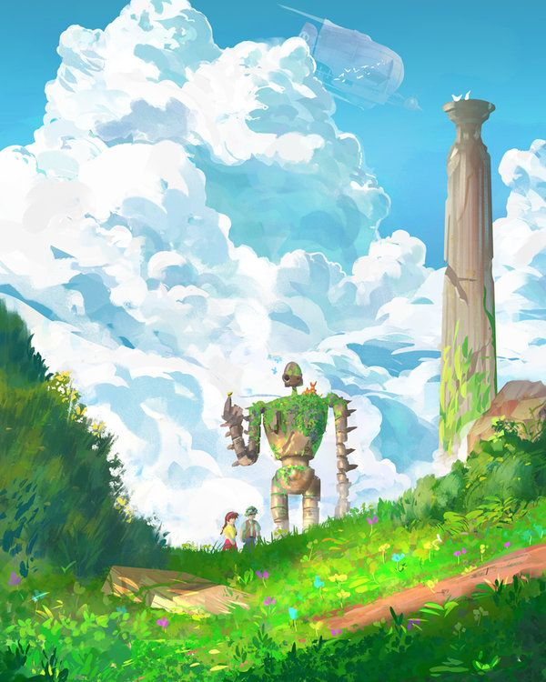 laputa castle in the sky by spiridt on DeviantArt