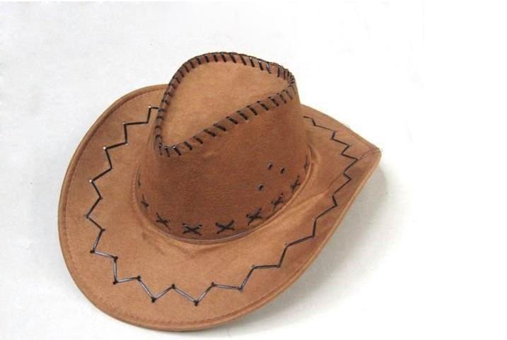 Браун Ковбойские Шляпы Шляпа Кожа Caps Cap Западном Стиле Головные Уборы Бесплатная Доставка Mix