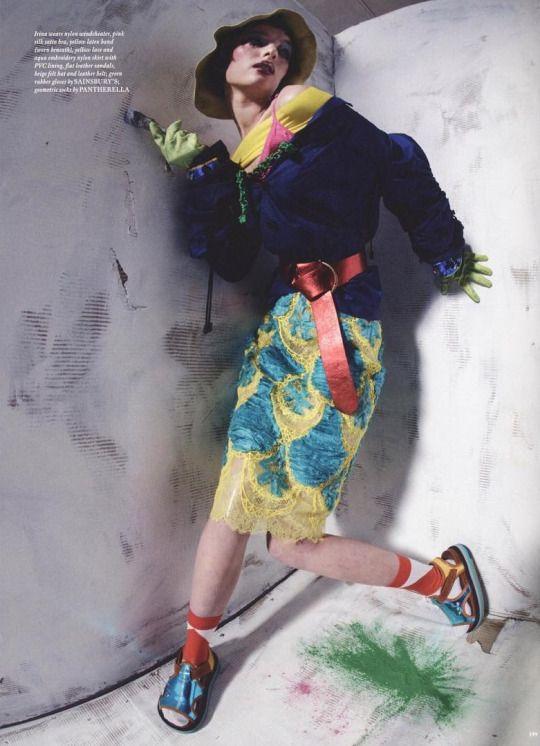 "LOVE Magazine Issue 17 Spring 2017, ""Head Boys - A Maison Margiela Story for the LOVE Magazine"", models wear all Maison Margiela by John Galliano, Défilé Spring 2017 collection and Maison Margiela Artisanal by John Galliano, Fall 2016 collection, except as indicated.   Photographer Tim Walker, Creative Director John Galliano, Fashion Editors Alexis Roche & Katie Grand, styled by Charles Jeffrey & Matty Bovan. Models Irina Liss; Kyona van Santen. Make-up by Lucy Bridge & Hiromi Ueda"
