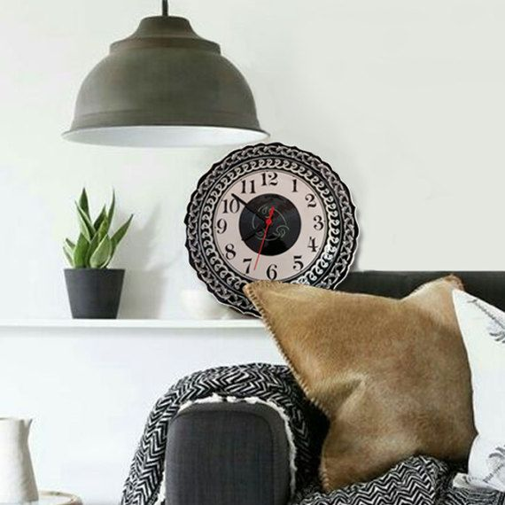 Vintage clock Turkish ottoman handmade iznik by nurceramicarts
