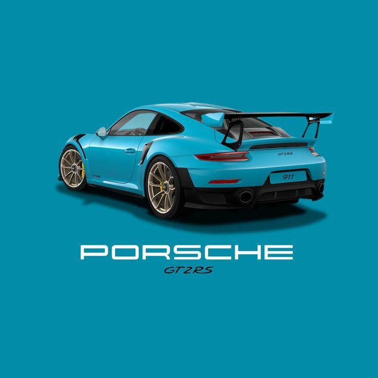 Porsche Gt2 Rs Miami Blue White Gold Gt2 Forged Alloys Porsche