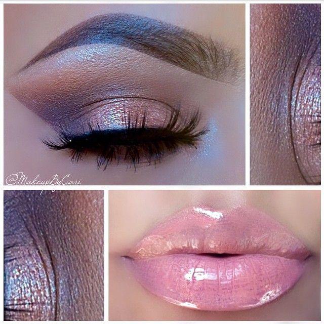 "CaRi @makeupbycari Instagram photos | ""Eyeshadow Brightener"" Lid• @anastasiabeverlyhills Maya Mia Palette ""Glisten"" Outer Crease/Cease & Lower Lash line• @anastasiabeverlyhills Single Shadow ""Pose"" Above Crease• ""Caramel"" blended with @anastasiabeverlyhills single shadows ""Penny Metal"" & ""RTW"" Brow/Highlight• ""Vanilla"" from Maya Mia |Lips| Maybelline Baby Lips ""Pink Punch"" With @victoriassecret Beauty Rush Lipgloss ""Peek-A-Boo"" and @maccosmetics lipgloss ""Nymphette"""