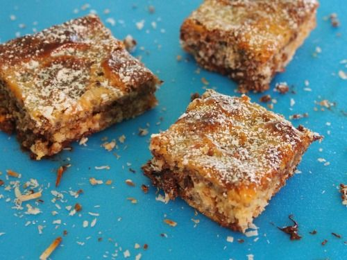 Why call this The Town Bike Slice? Because it's cheap, easy and everyone can enjoy it! I was introduced to this slice by my good friend Donna. It is so good I must of eaten about six pieces - not small ones either. You just pour in the layers, pour over the condensed milk and bake.