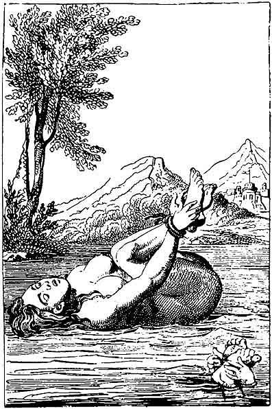 Ordeal by water was associated with the witch-hunts of the 16th and 17th centuries: an accused who sank was considered innocent, while floating indicated witchcraft.