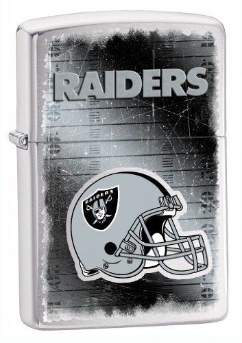 Zippo NFL Raiders Lighter, Silver, 5 1/2 x 3 1/2cm  https://allstarsportsfan.com/product/zippo-nfl-raiders-lighter-silver-5-1-2-x-3-1-2cm/  Show off your team spirit with our NFL Zippo Lighters. All of our emblems are made from expertly crafted, three-dimensional pewter. Check out our wide selection of Zippo Lighters!