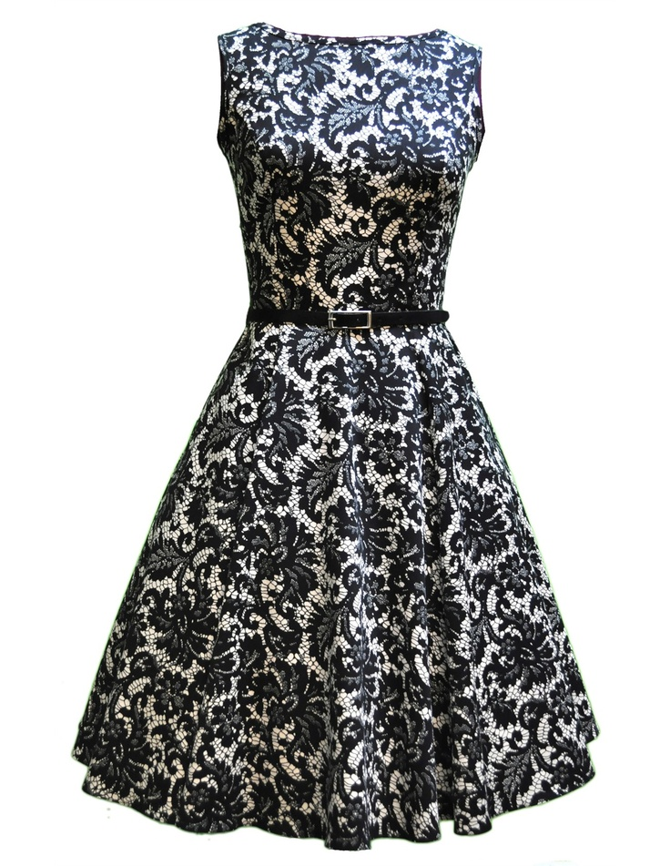Lady V London Glamourous Black Tea Dress