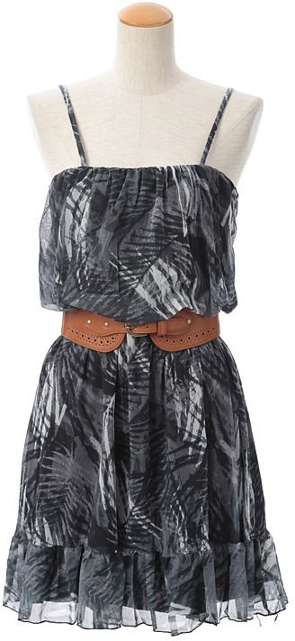 Philter ヤシ柄ベアワンピース / Palm Tree Print Dress on ShopStyle