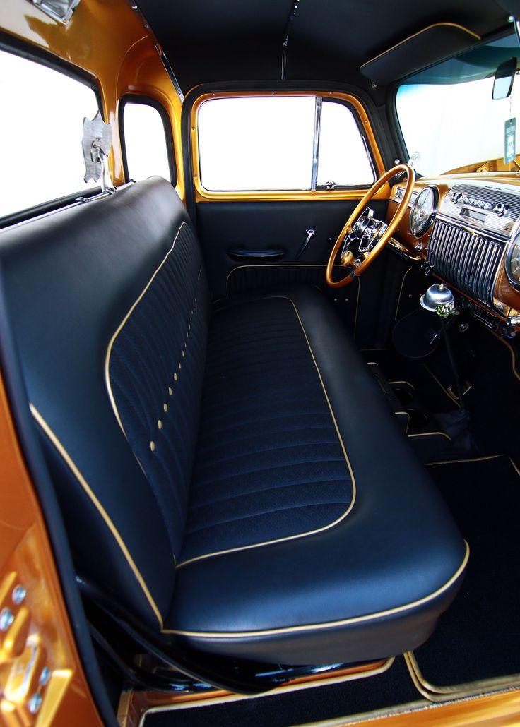 Vehicle Bench Seat ~ Best kustom auto interiors images on pinterest