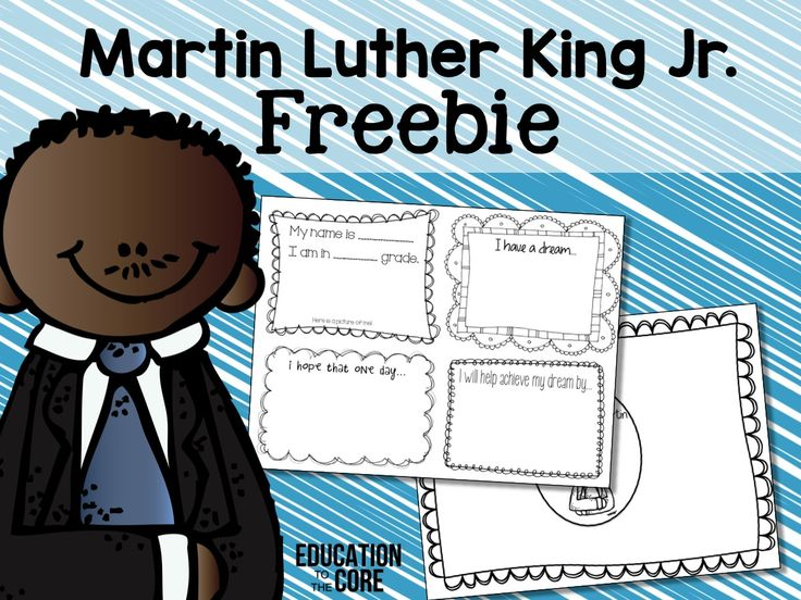 Martin Luther King Mini-Book and Unit and FREEBIE! This freebie includes two great graphic organizers to supplement your Martin Luther King Jr. Unit!