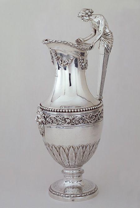 Silver ewer by Jean-Baptiste-François Chéret, Paris, France 1784-1785