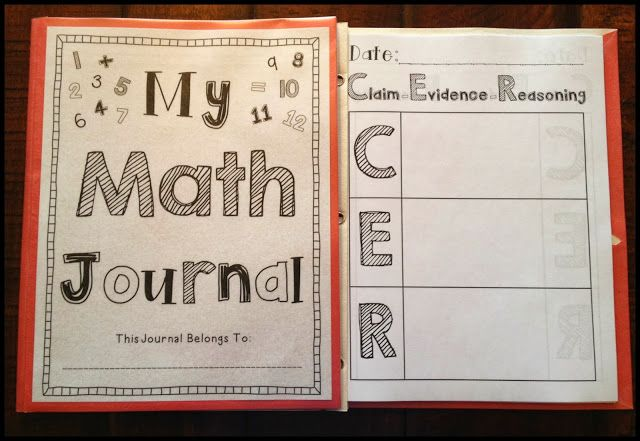 Increase RIGOR and CRITICAL THINKING with this daily MATH JOURNAL format of Claim-Evidence-Reasoning! Download the journal cover and C-E-R template for free. :)