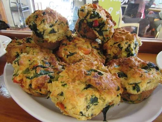 Delicious savoury muffins for lunch - always a popular option