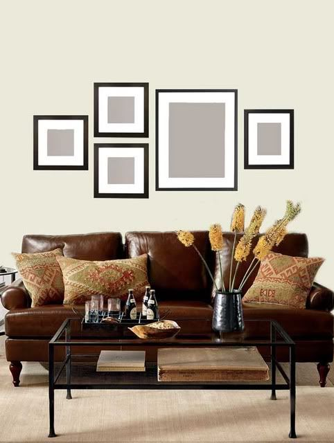 Wall gallery 3 10 x 10 1 16 x 20 1 8x10 portrait Over the sofa wall decor ideas