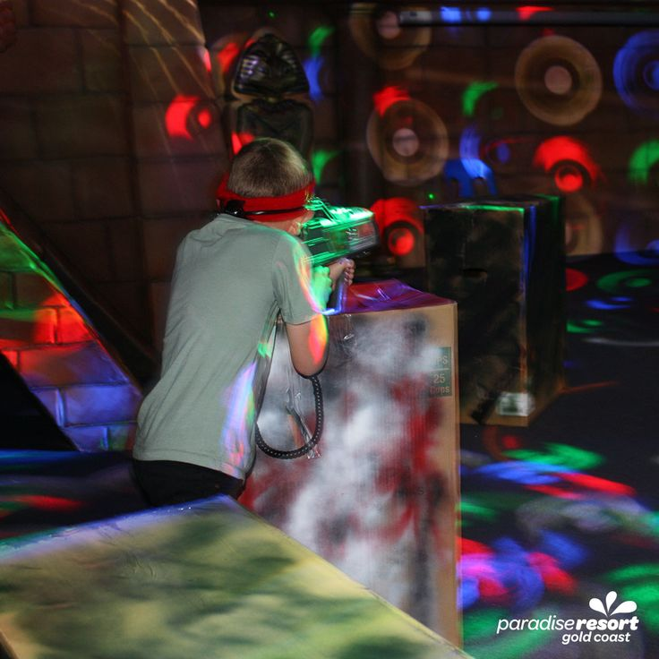 Battle your friends and family to a game of laser tag in our Zone 4 Kids club!