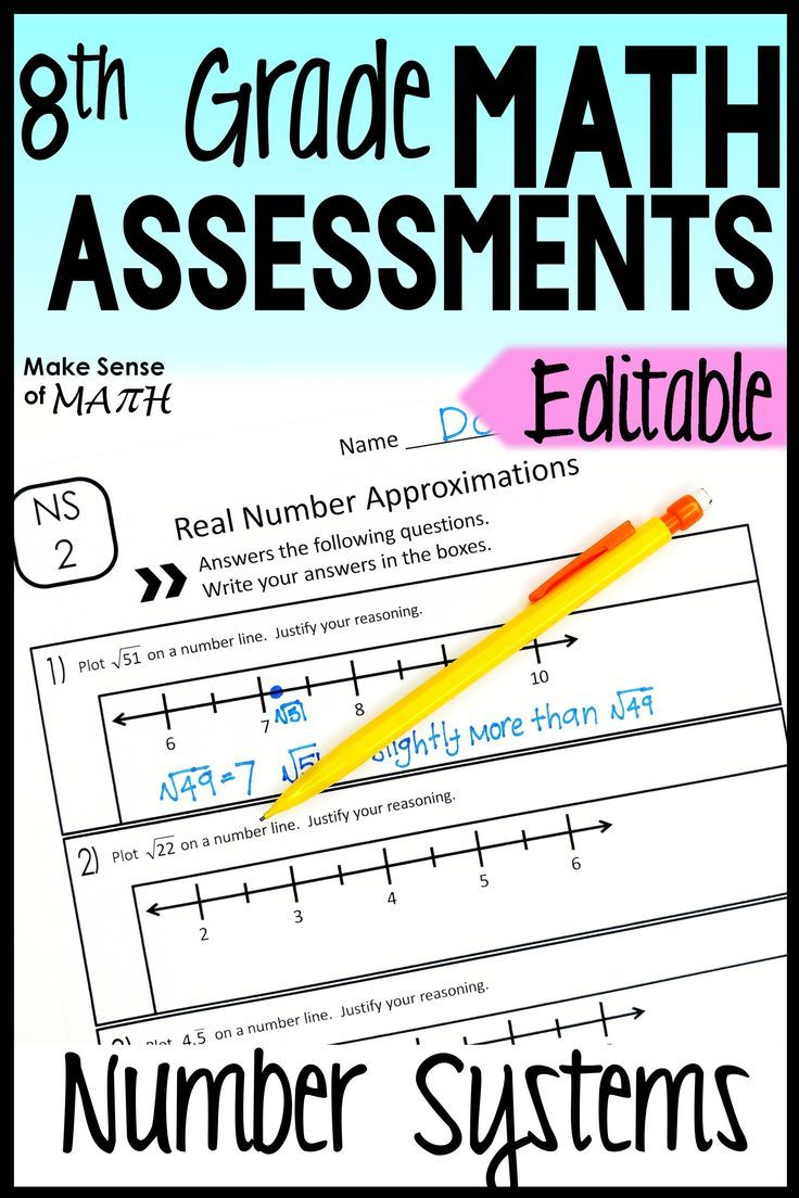 Number Systems Assessments 8th Grade Math Common Core Editable 8th Grade Math Math Assessment Maths Activities Middle School [ 1104 x 736 Pixel ]
