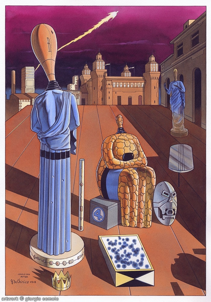 Le Muse Inquietanti (as the Fantastic Four), after Giorgio De Chirico... epicly awseome :D
