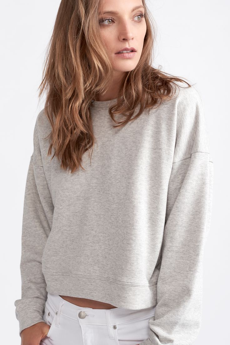 The Drop Shoulder Sweater by bon label. Autumn 17 collection. organic. ethical fashion. made in australia. inspired by paris. good for womankind.   grey, sweater, jumper, essentials, organic, cotton, parisian style    SHOP bonlabel.com.au