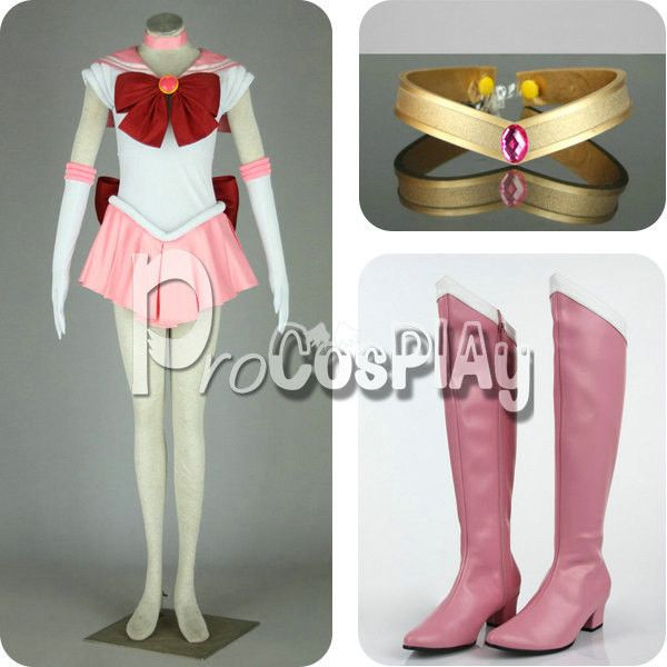 Cheap Sailor Moon Chibiusa Sailor Chibi Moon Cosplay Costume ($119) ❤ liked on Polyvore featuring costumes, cosplay, womens sailor halloween costume, women's halloween costumes, lady halloween costumes, cosplay costumes and sailor halloween costume