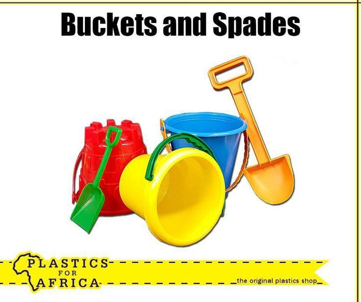 Enjoy the #SchoolHolidays on the beach with these buckets and spades. Available at #PlasticsForAfrica.