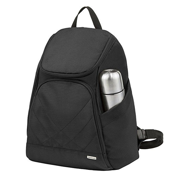 Travelon Backpack,Black,11x7x3